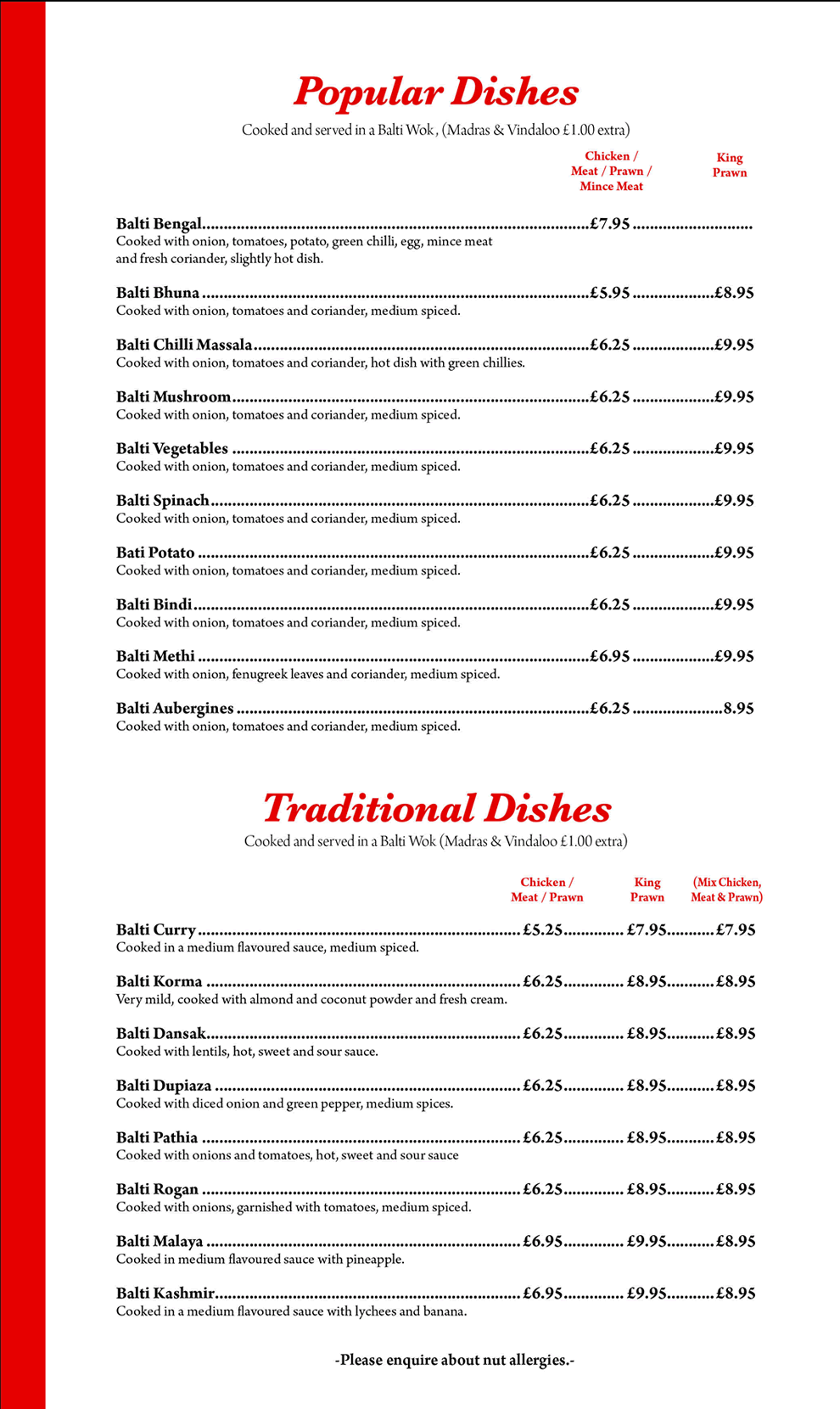 Popular and Traditional Dishes